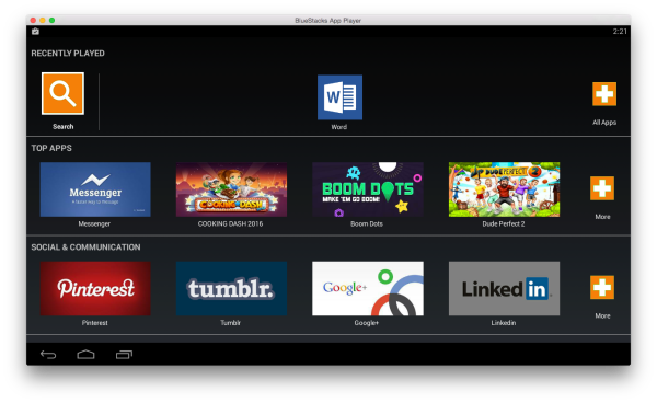 You can now use any Android app on your Mac w/ BlueStacks