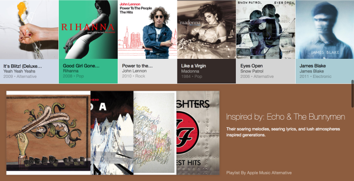 Apple Music's playlist recommendations