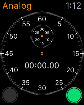 Apple Watch Analog Stopwatch
