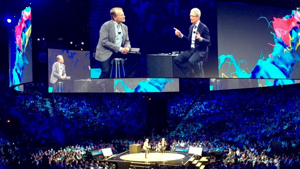 Apple CEO Tim Cook & Cisco CEO John Chambers today