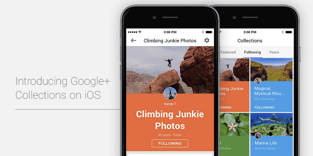 Google+ Collections iOS