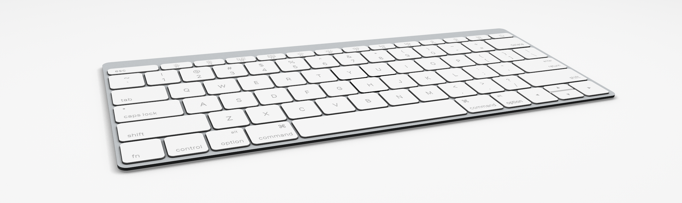 Keyboard Angle White Display