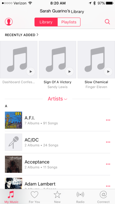 iOS 9 Home Sharing Music
