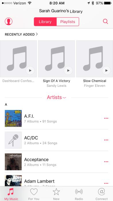 iOS 9 Home Sharing Music