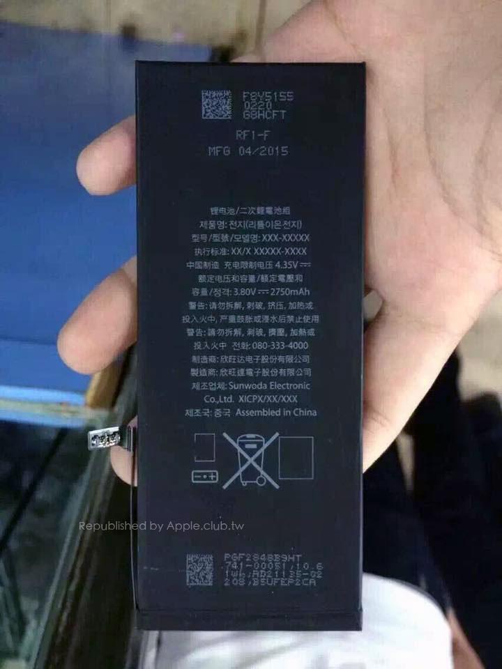 iPhone 6s Plus battery rated 2750 mAH, 5% smaller capacity ...