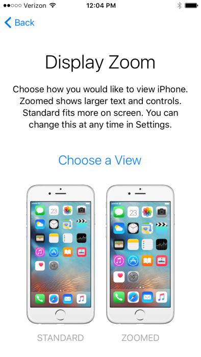 iOS 9 Choose a View