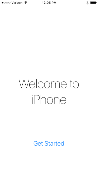 iOS 9 Welcome to iPhone