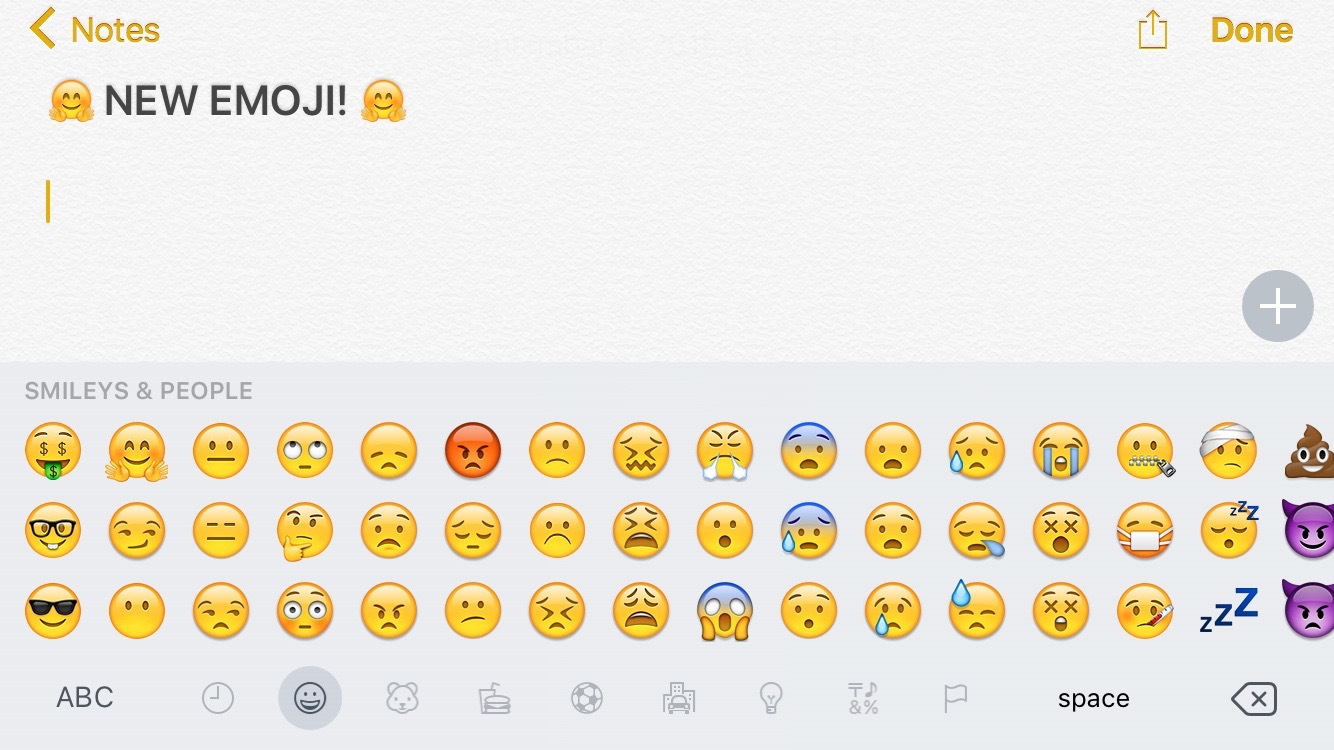 emoji keyboard iOS 9.1