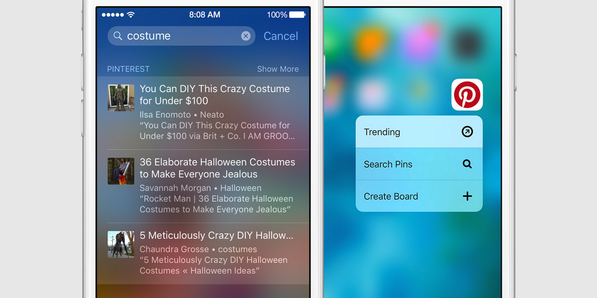 Pinterest Updated For Ios 9 W Spotlight Search 3d Touch On Iphone 6s More 9to5mac