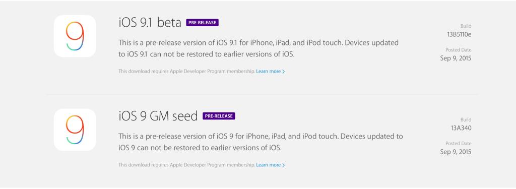 Apple releases iOS 9, watchOS 2, El Capitan GM seeds, distributes