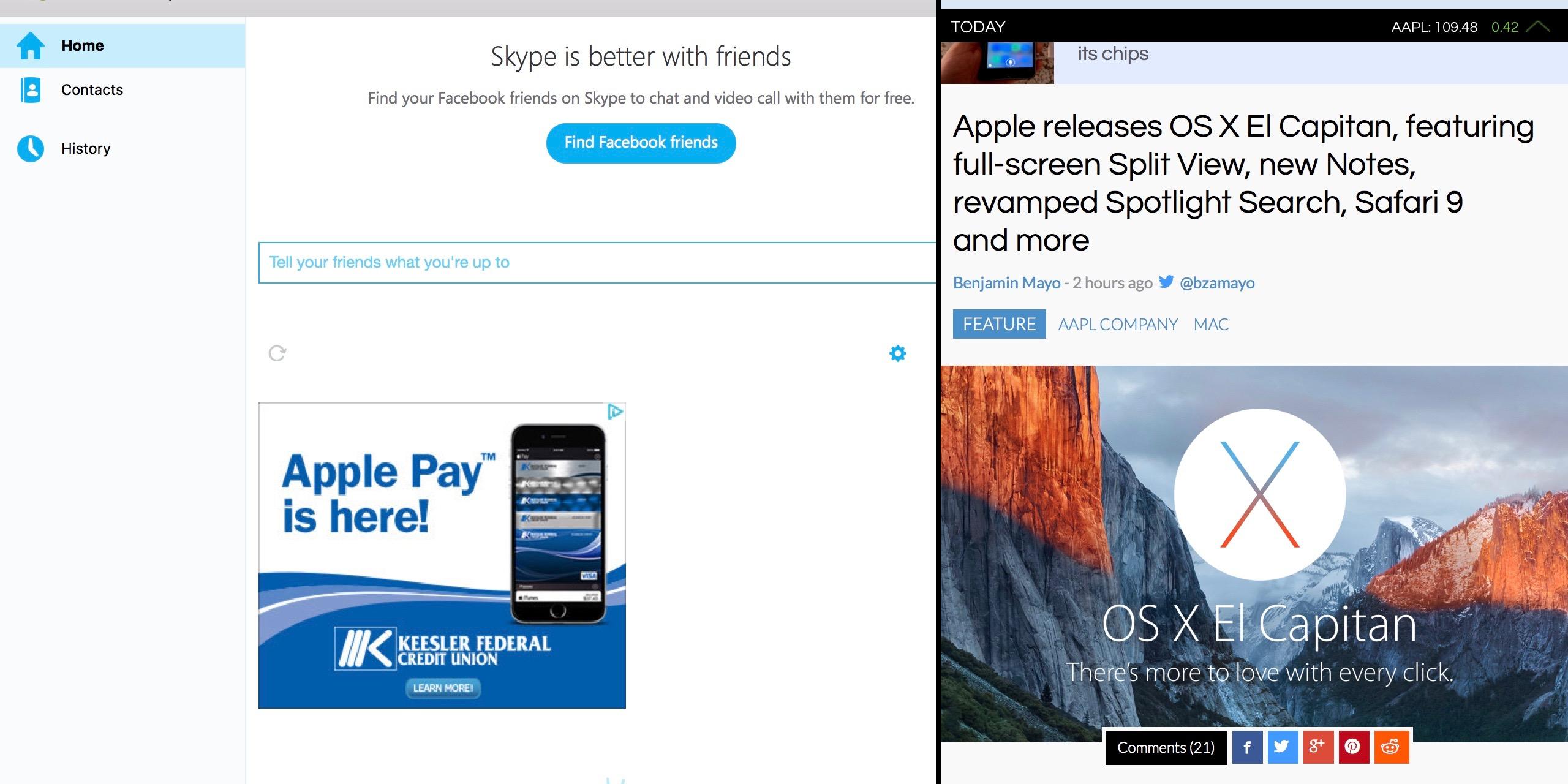 Skype for El Capitan