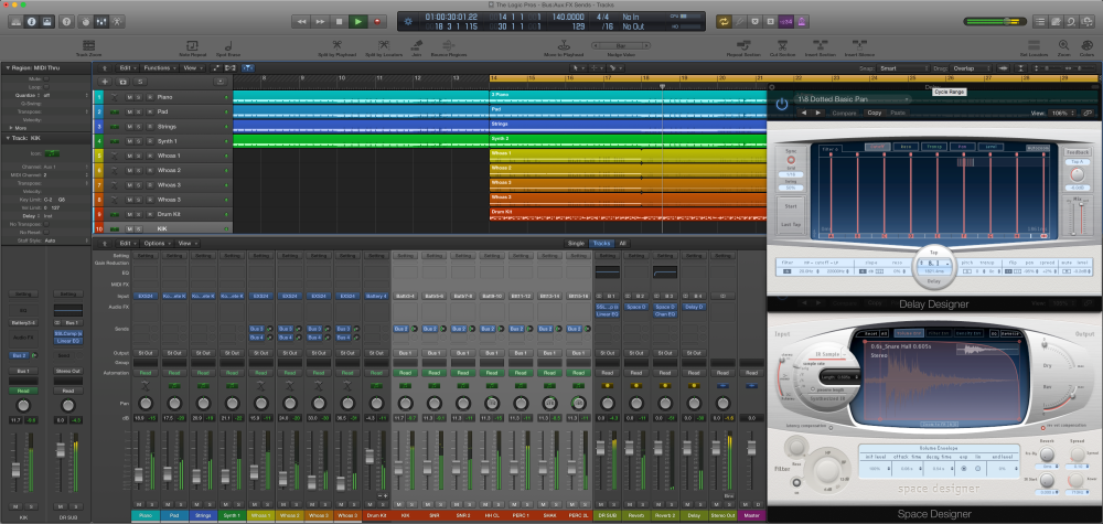 The Logic Pros: Routing 101 - creating multi-track FX Sends