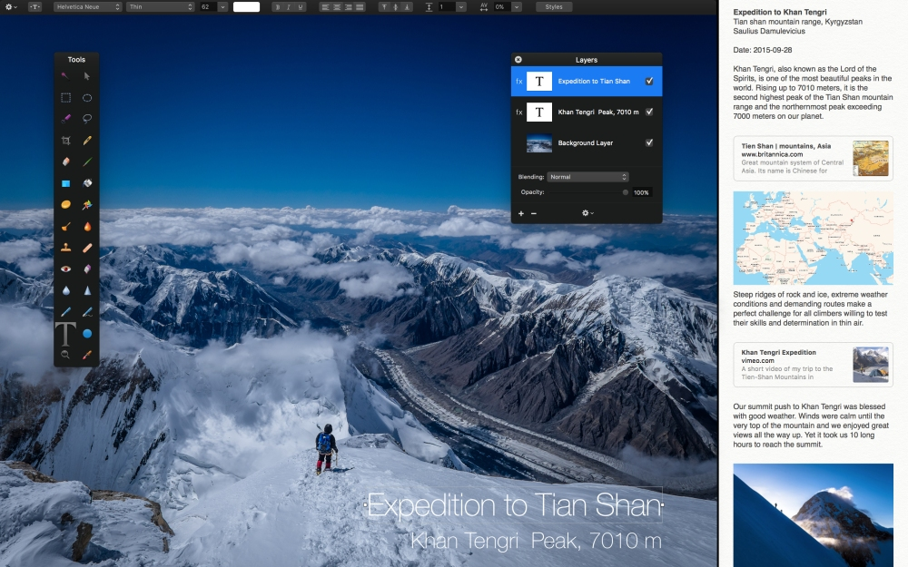 2. Pixelmator and Split View