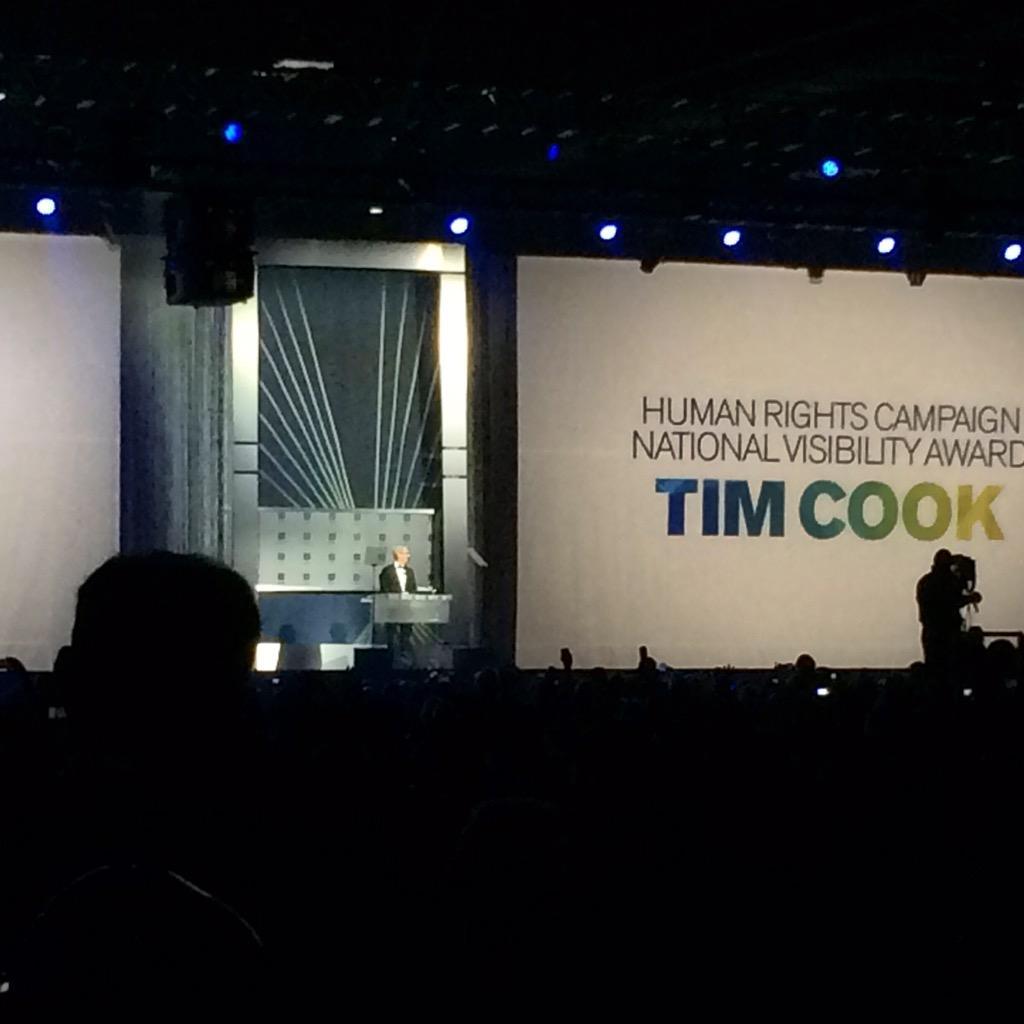 Tim Cook HRC Visibility Award