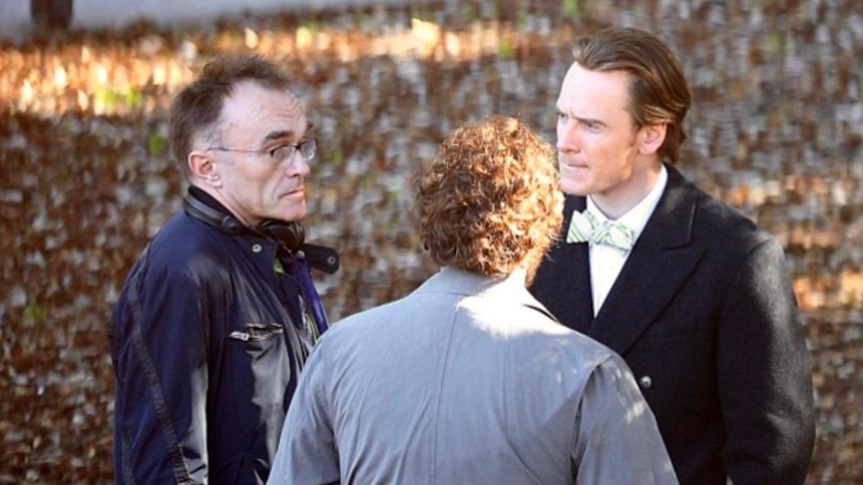 Director Danny Boyle with the cast of Steve Jobs
