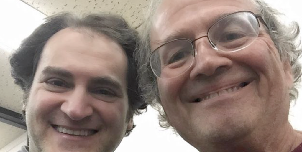 Andy Hertzfeld (R) with the actor who plays him, Michael Stuhlbarg (L)