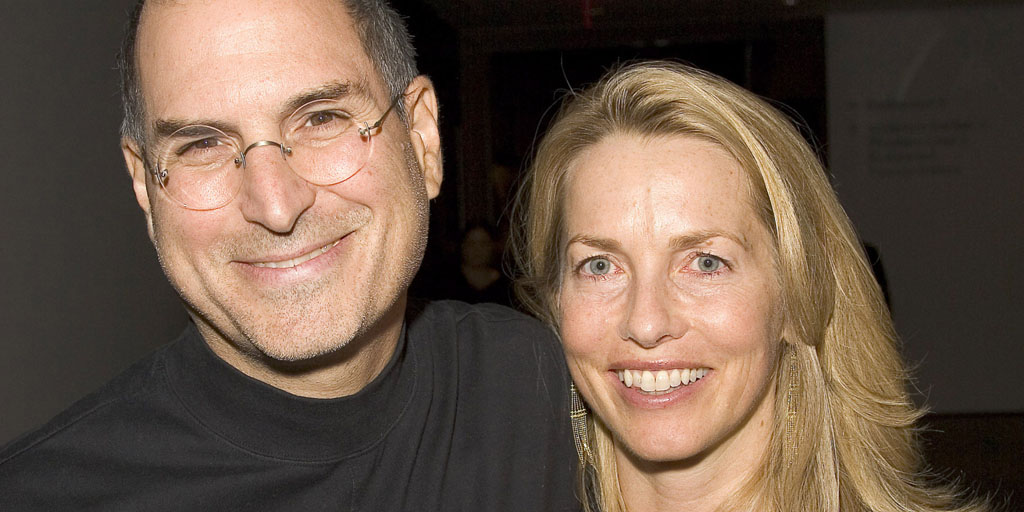 Steve Jobs and Laurene Powell at the The Museum of Modern Art in New York, New York (Photo by Brian Ach/WireImage)