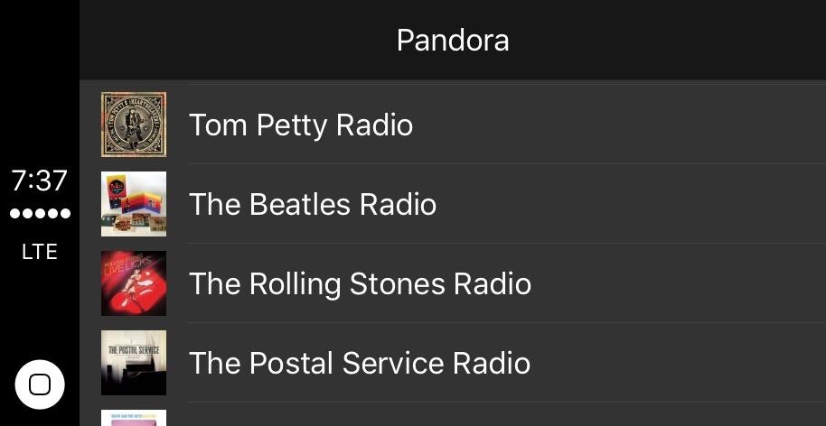 Pandora CarPlay 2