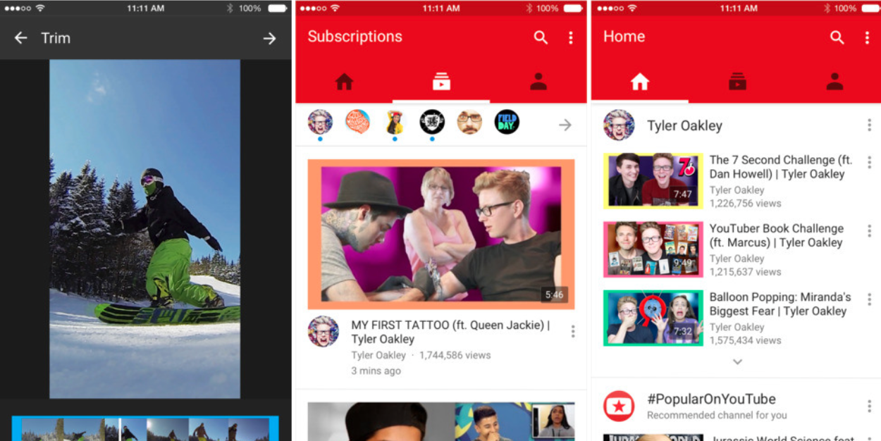 YouTube for iOS updated w/ Material Design interface, in ...