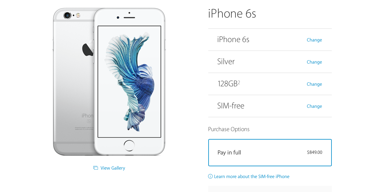 where to buy sim free iphone 6s