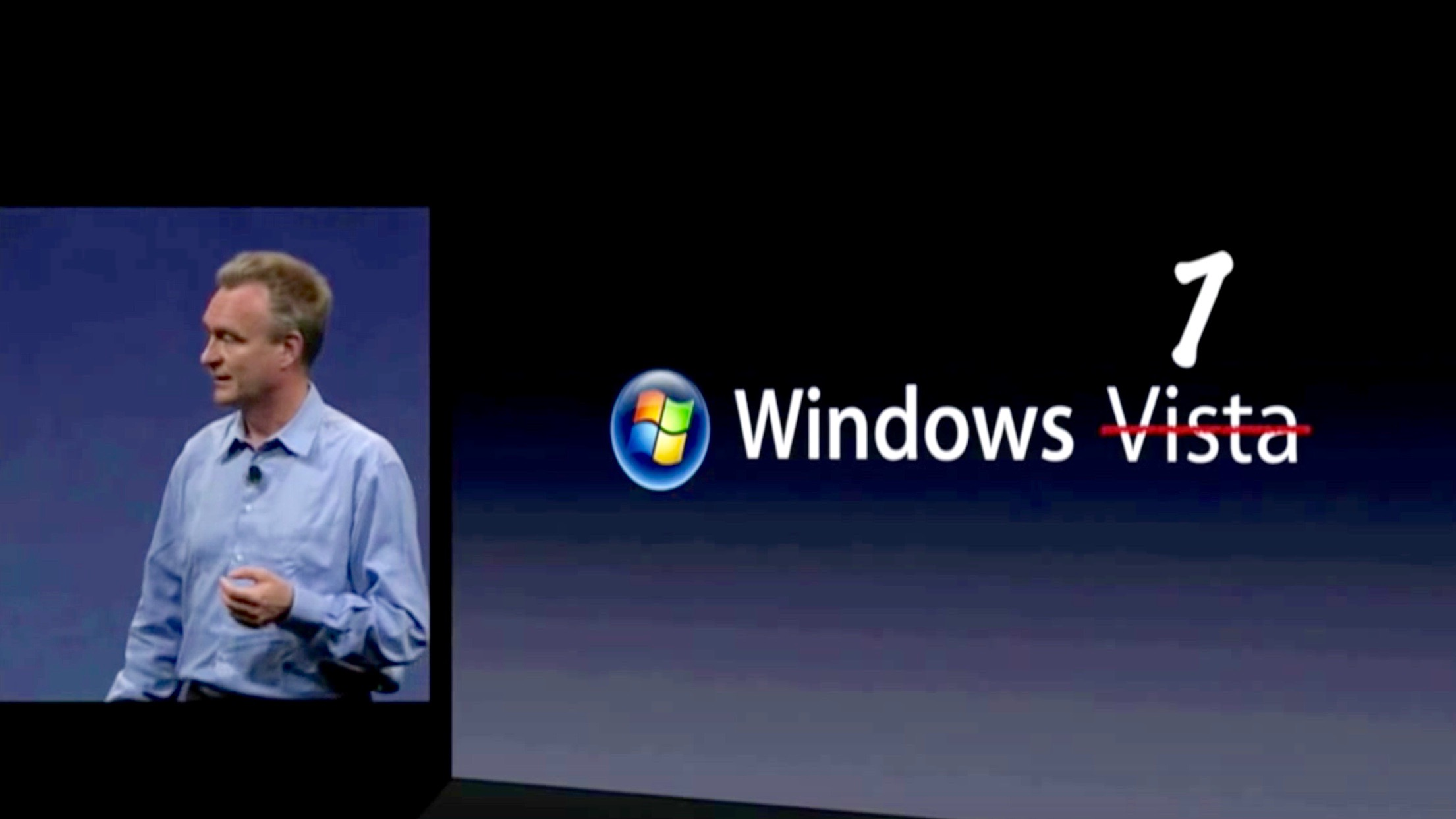 Bertrand Serlet taking down Windows before introducing OS X Snow Leopard in 2009
