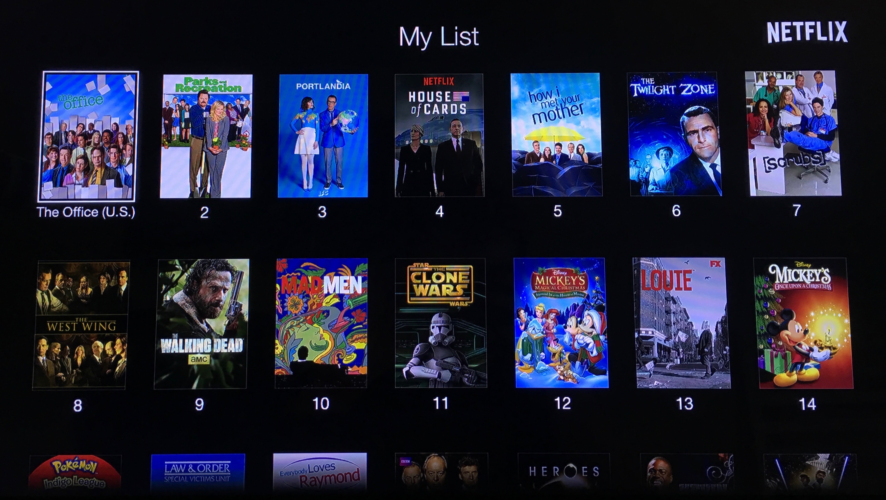 Netflix My List Apple TV 3