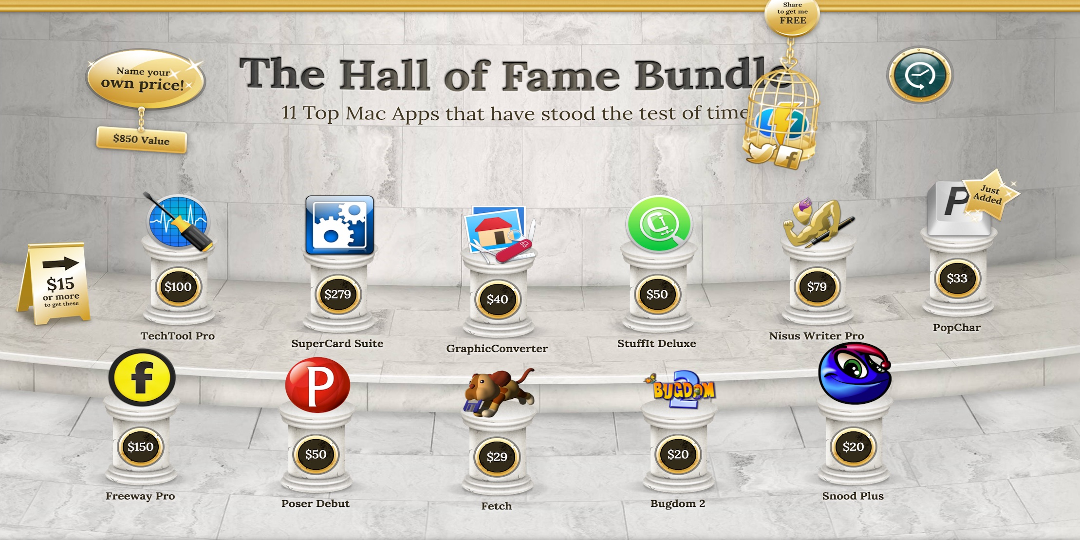 A bundle of Mac App Bundles, more than 50 total apps over 90% off