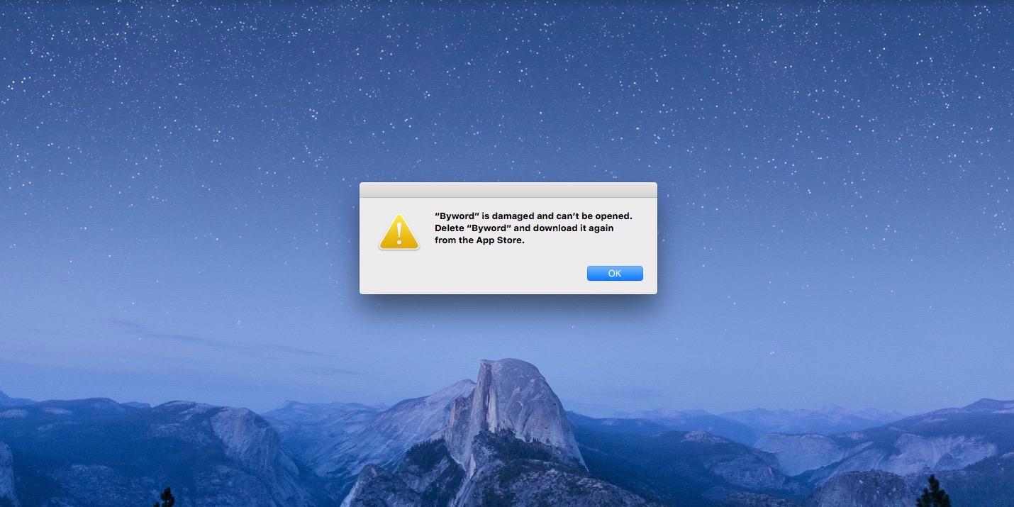 Mac App Store error