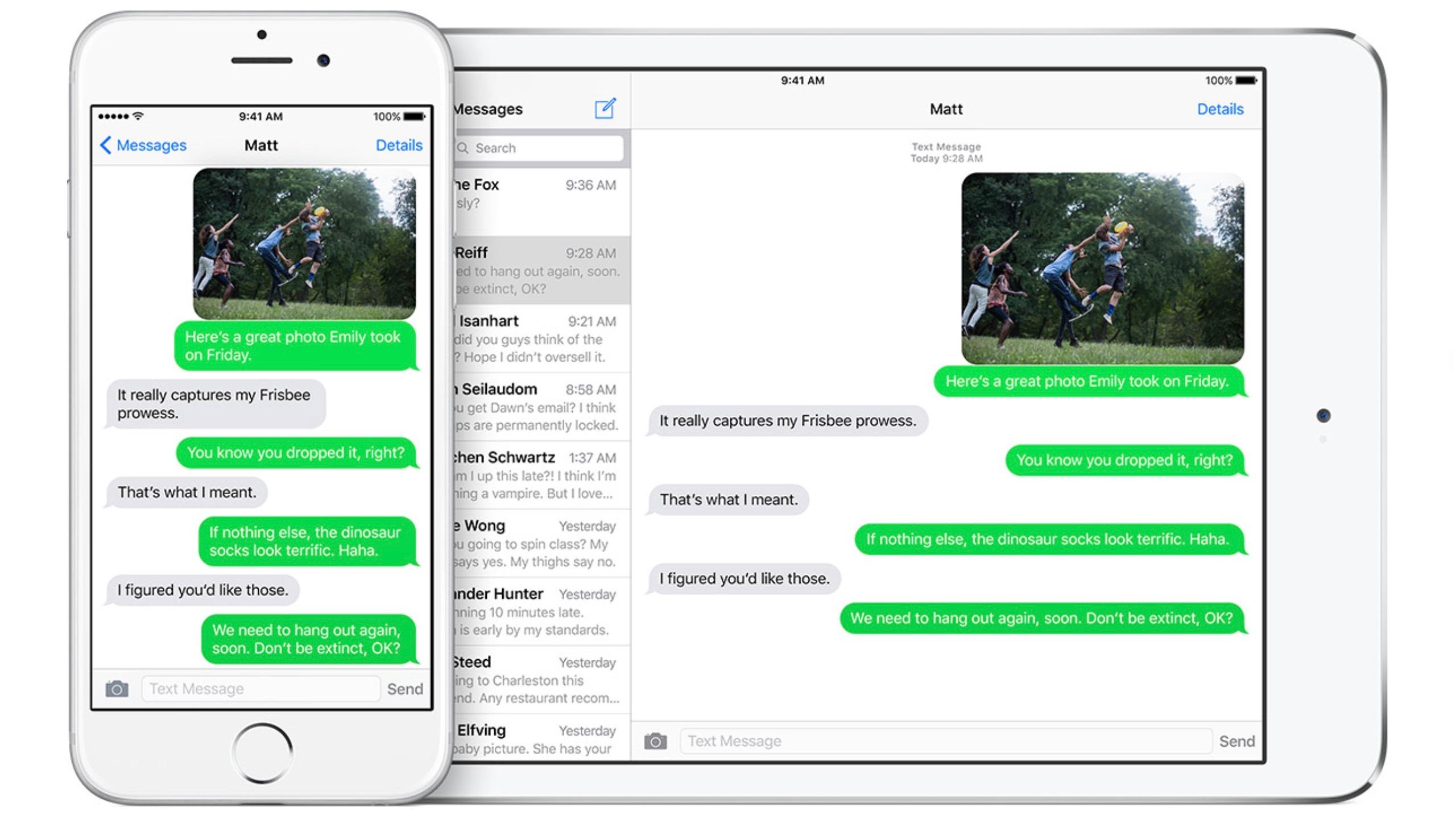 Messages iOS iPhone iPad iOS 9 16-9