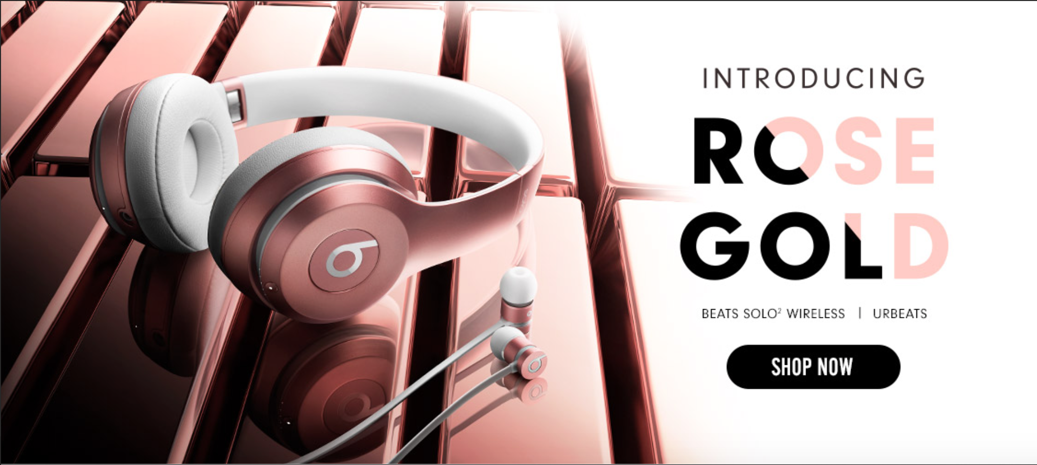 Beats Rose Gold 2-1