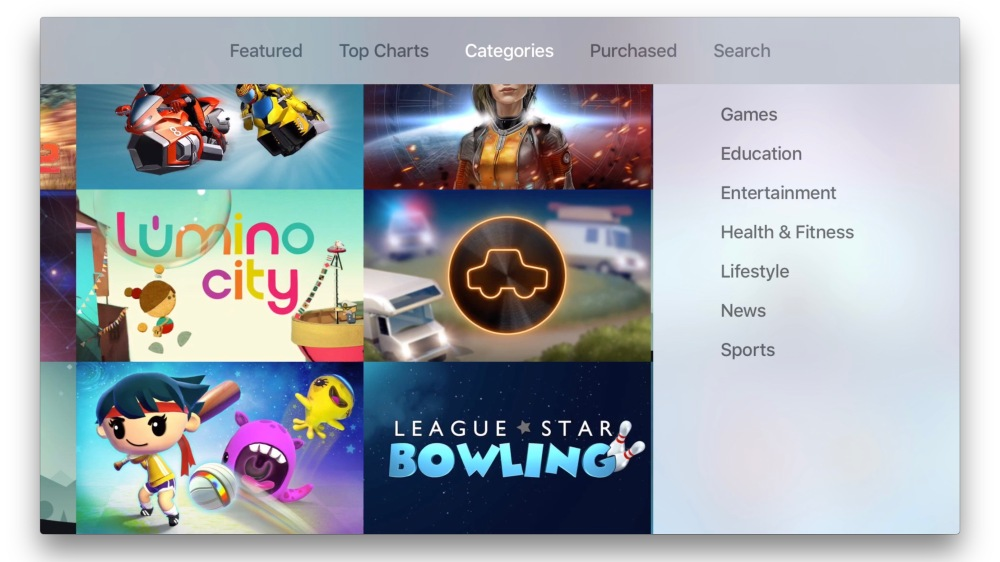 Apple TV Categories