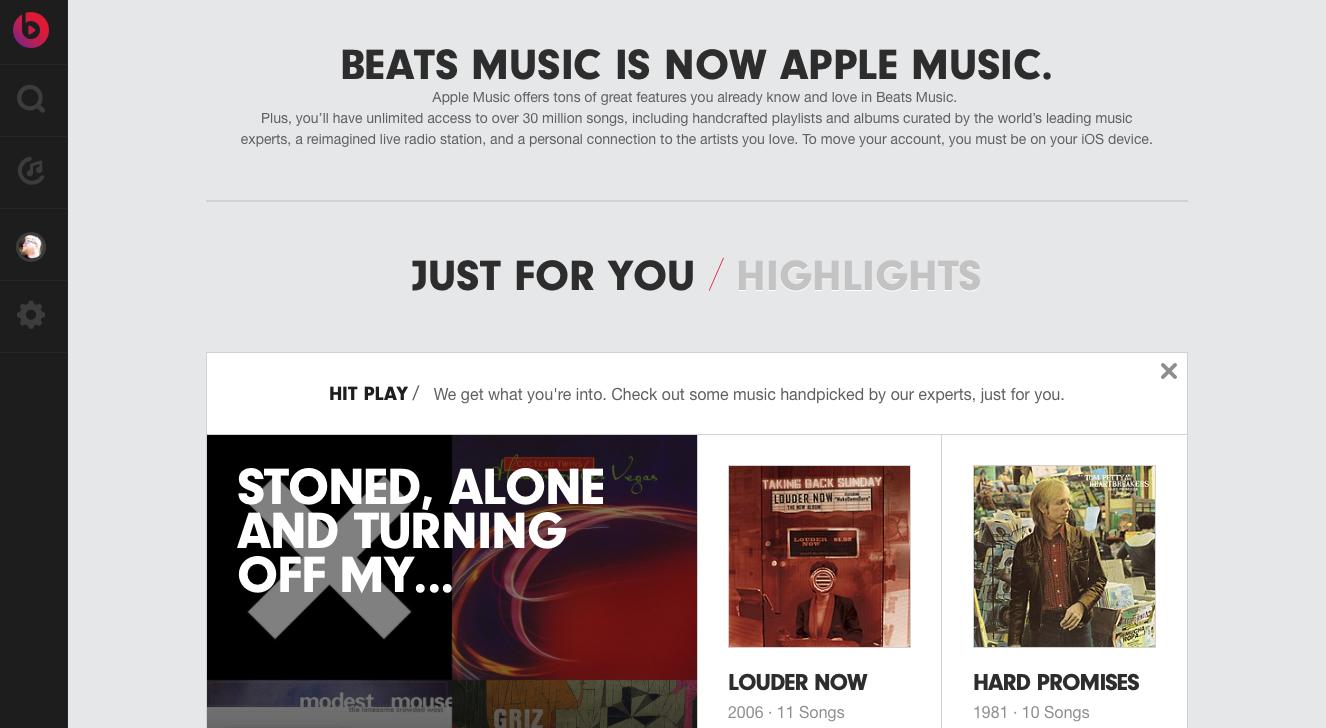 Beats Music web
