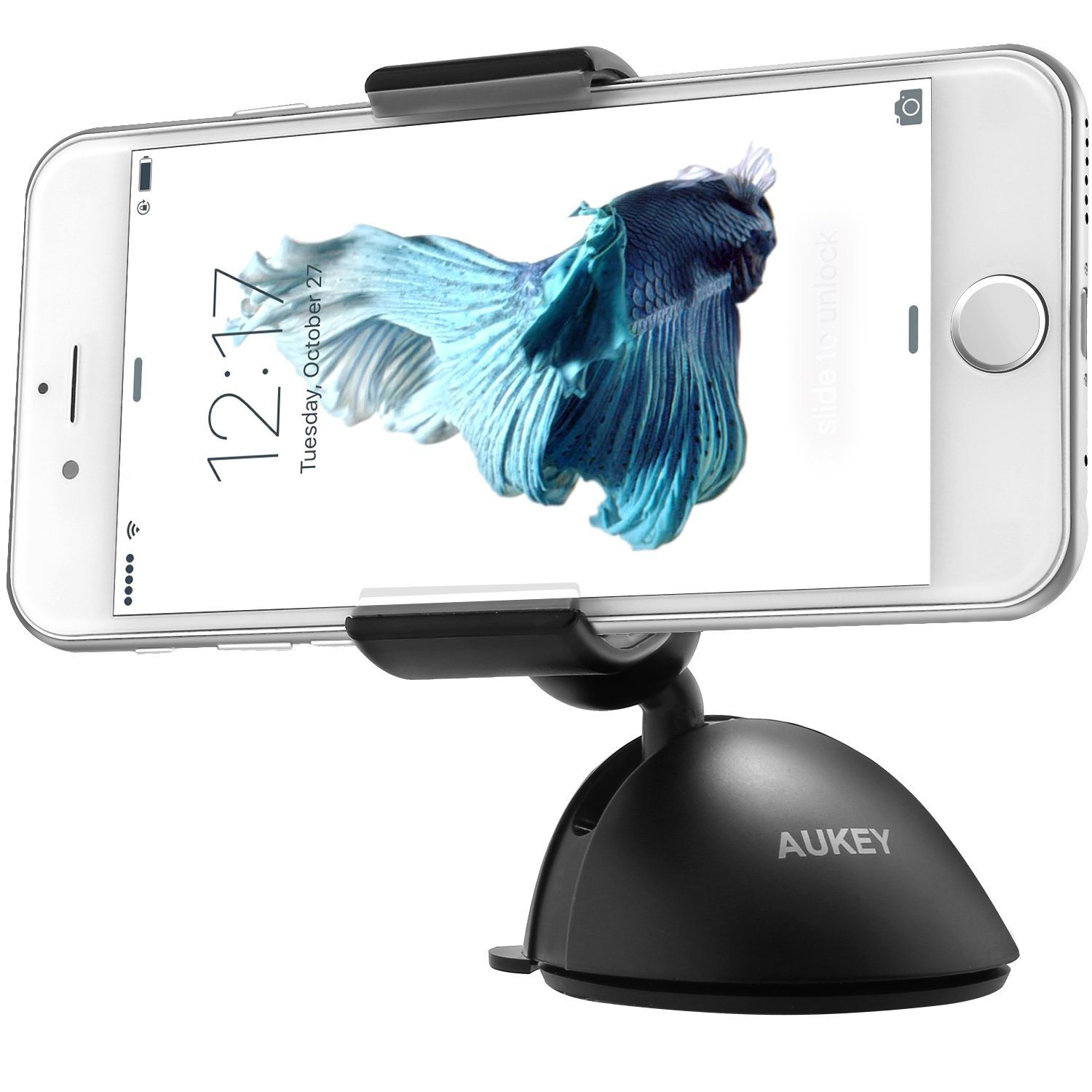 aukey-windshield-dashboard-car-mount-holder-cradle-for-iphone-6s-plus-6s-samsung-galaxy-6s-and-more-other-phone-single-hand-operation