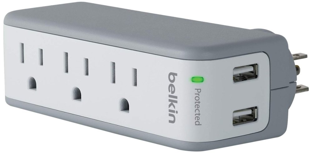 Belkin SurgePlus 3-Outlet Swivel Charger w: Dual USB Ports-sale-01