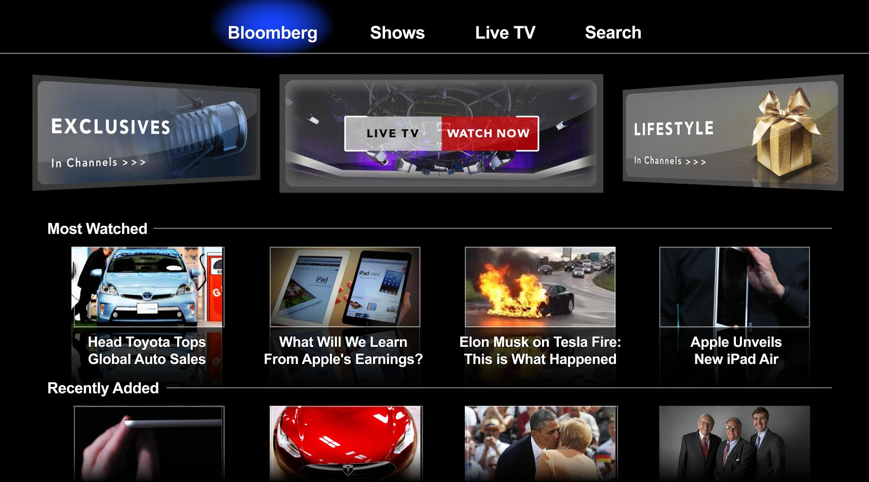 Bloomberg launches on Apple TV globally with 24/7 live news stream