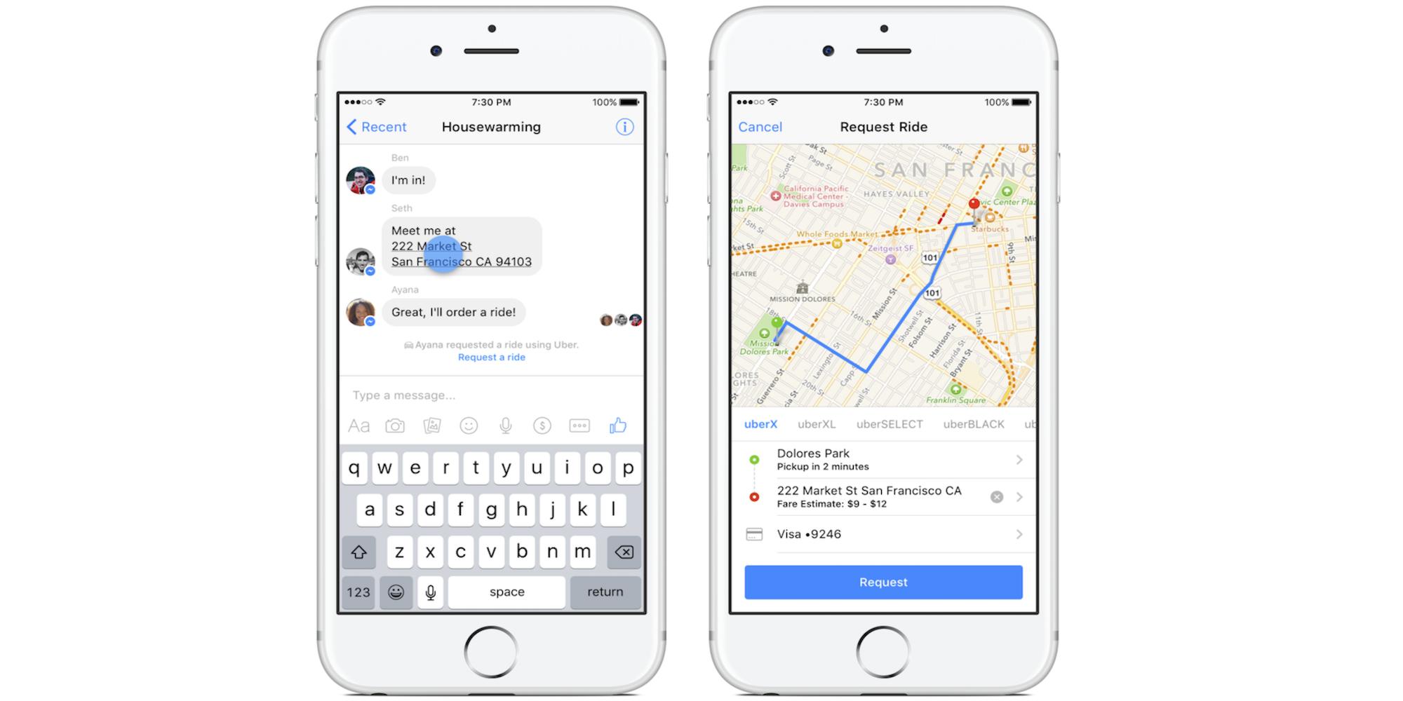 Facebook-Messenger-Uber