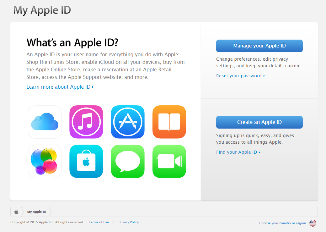 Apple ID old portal