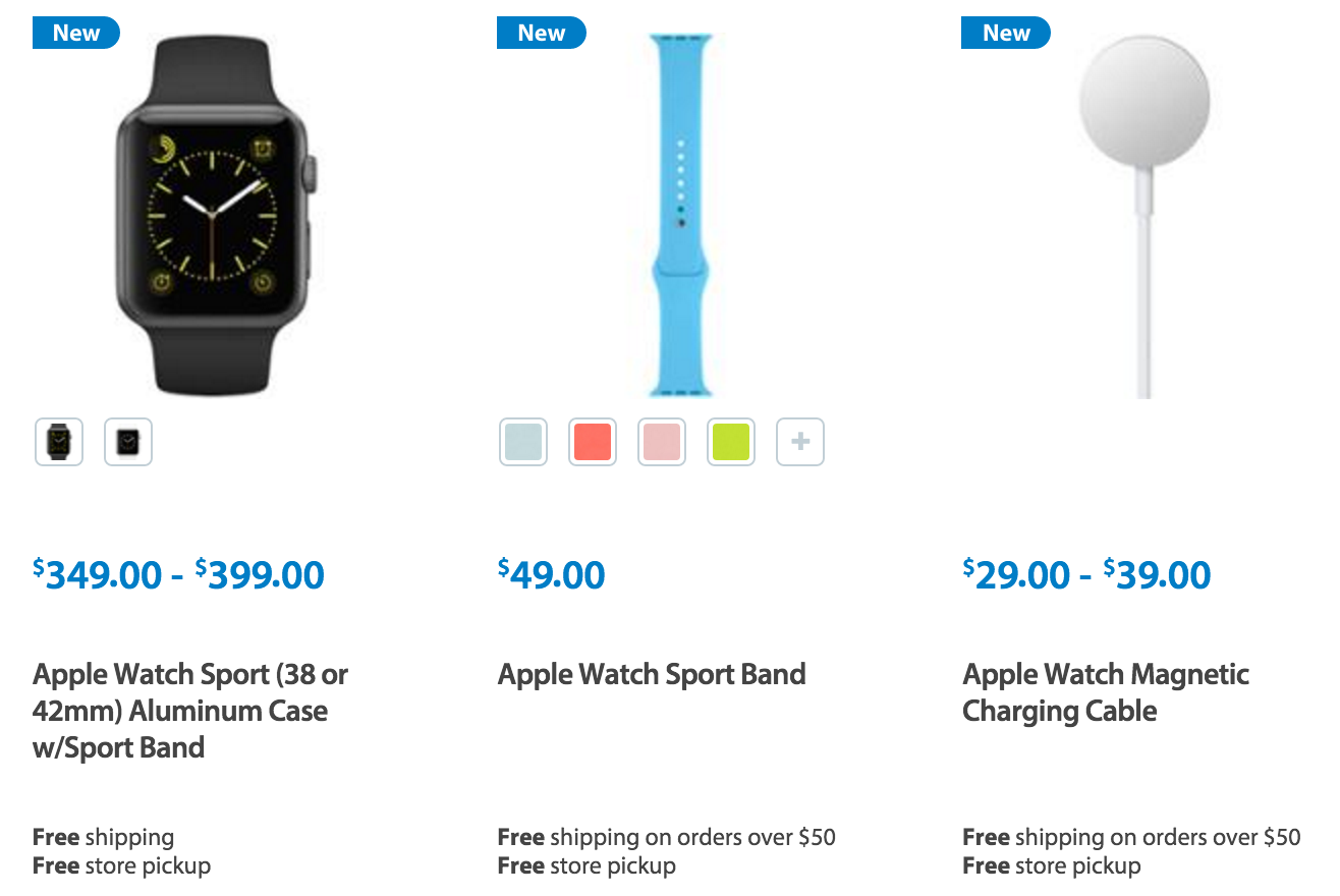 Walmart-apple-watch accessories