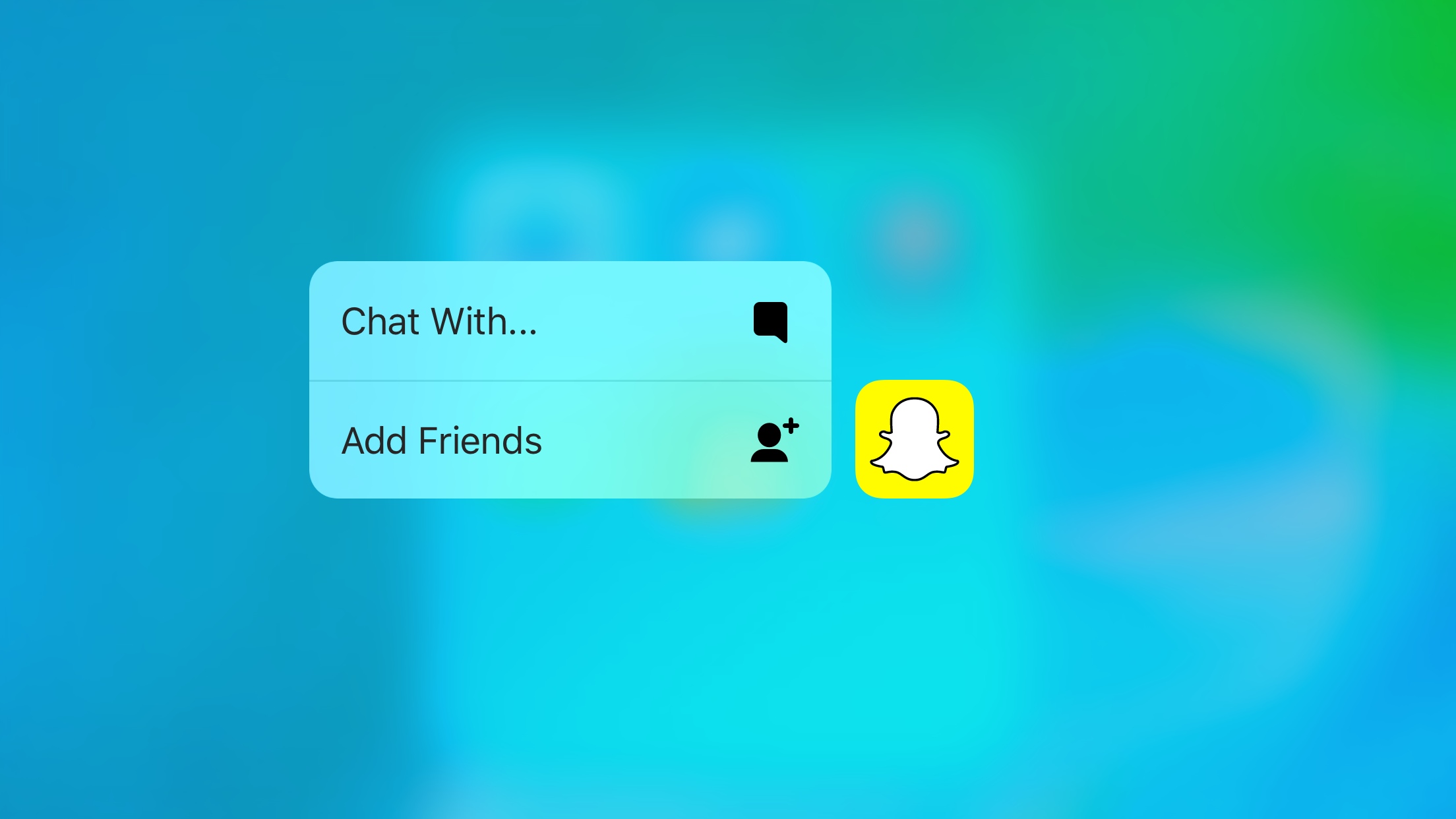 Snapchat (3D Touch)