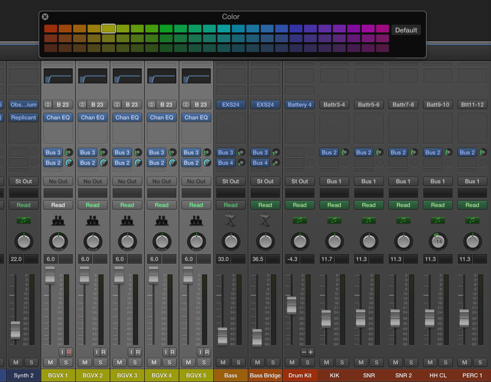 Logic Pros-Track Names