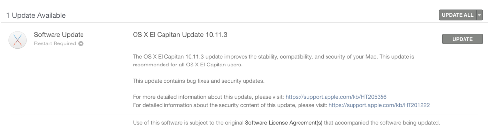 OS X 10.11.3 release notes
