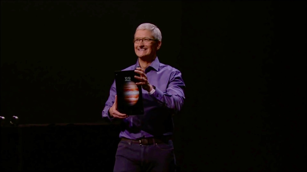Apple CEO TIm Cook iPad Pro