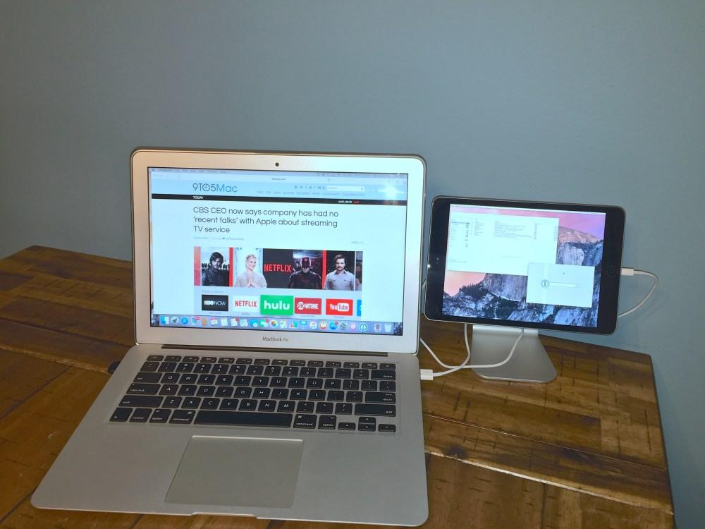 Macbook Air with Zand using Duet Display