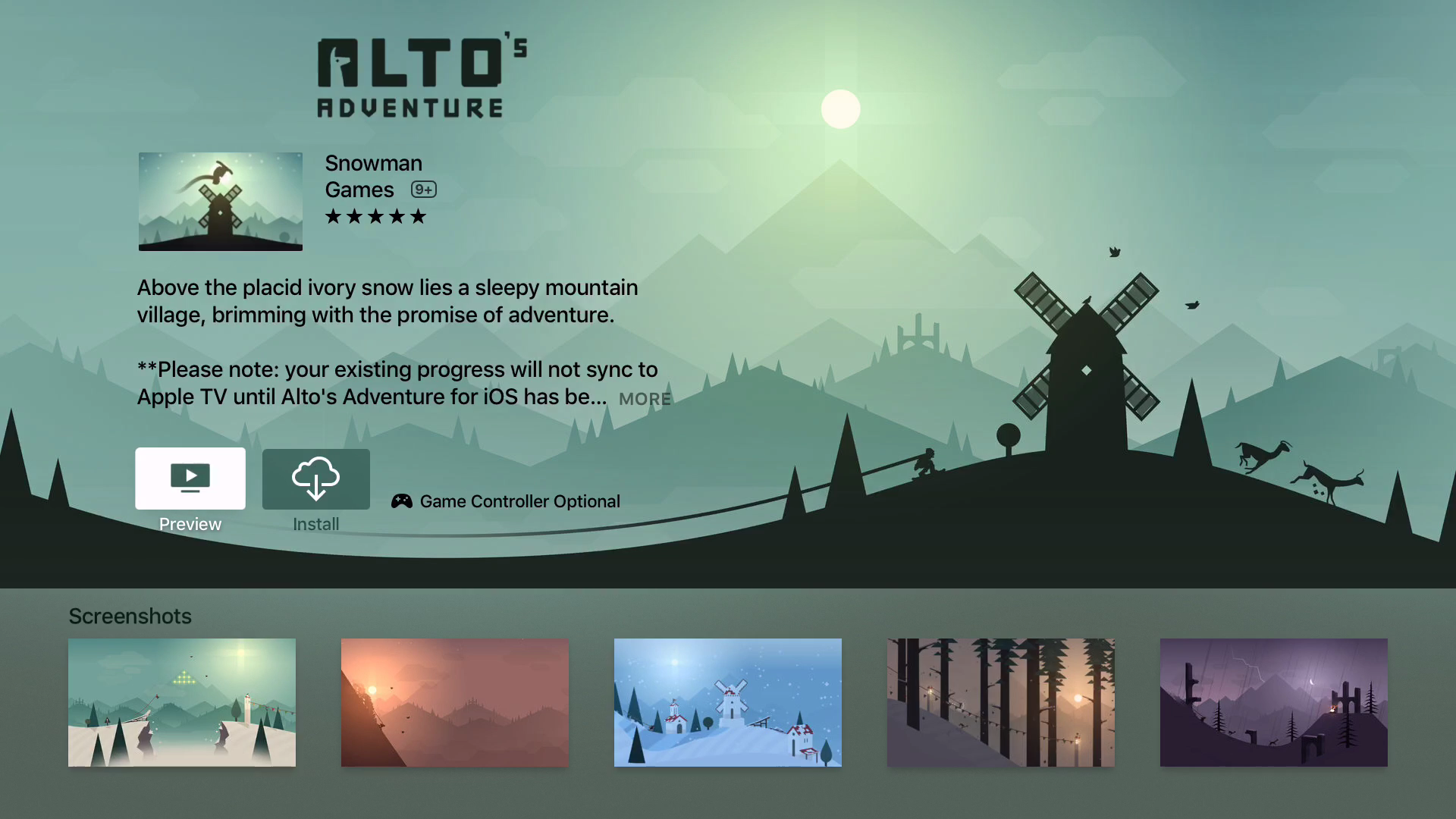 Apple TV Preview Video Alto's Adventure