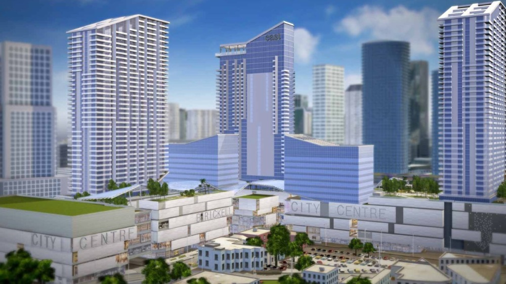 Rendering of the new Brickell City Centre in Miami