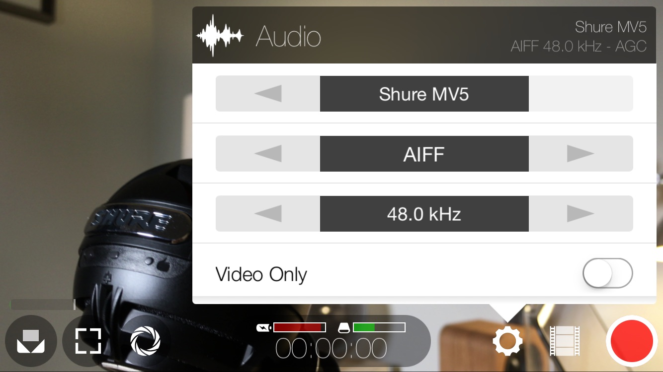 FiLMiC Pro External Microphone