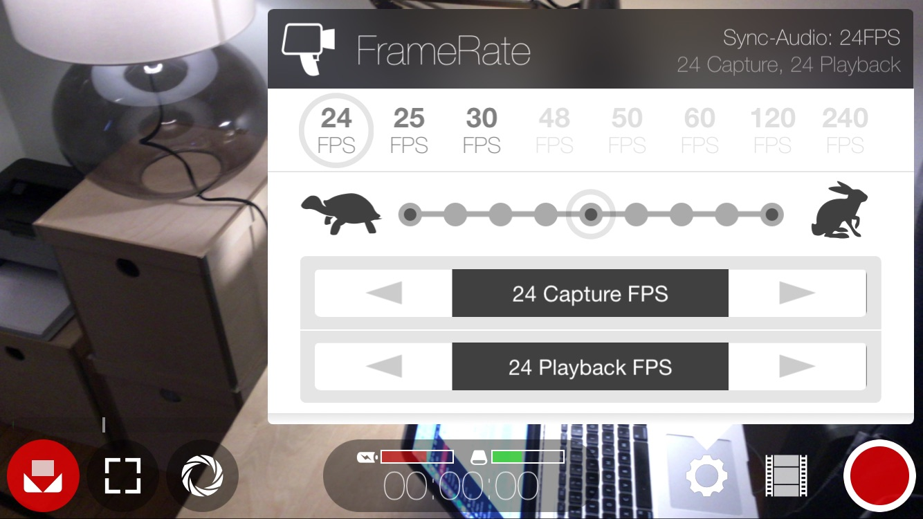 FiLMiC Pro FrameRate Settings