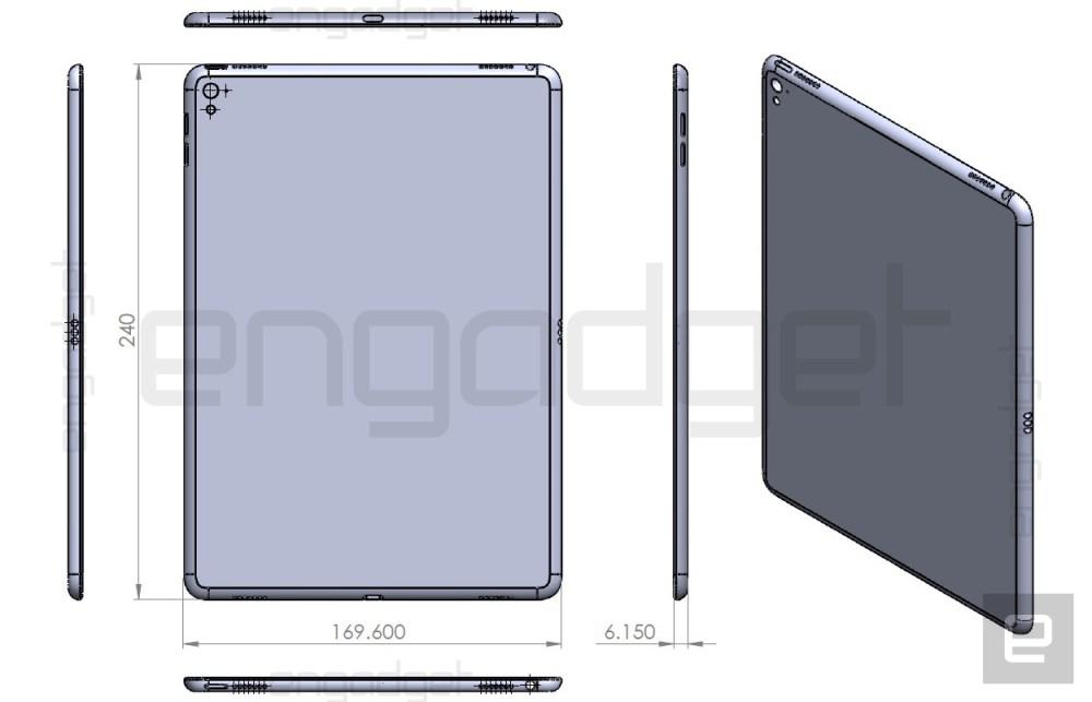iPad Air 3 purported blueprint leak