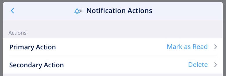 Spark Notification Actions