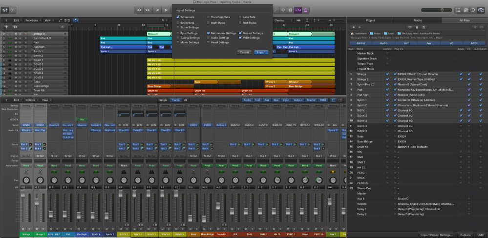 The Logic Pros-Import Tracks